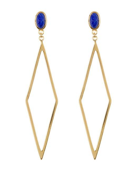 Gorjana   Metallic Dez Diamond-shape Drop Earrings   Lyst