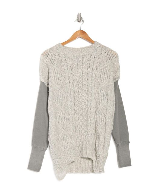 Bliss and Mischief Multicolor Nico Cable Knit Sweater