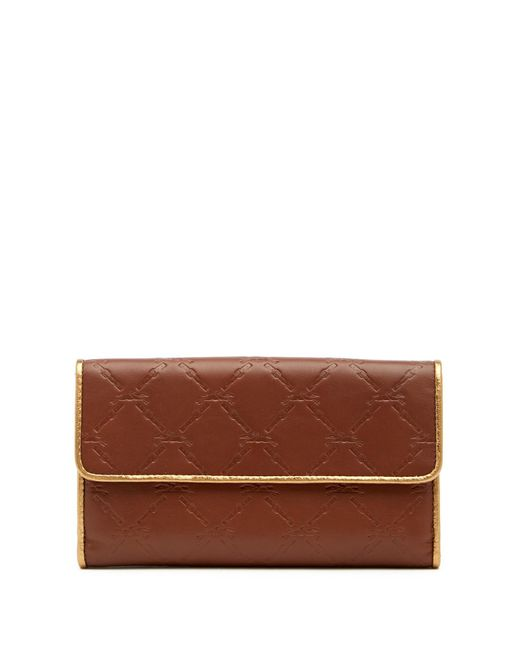 Longchamp - Brown Lm Cuir Leather Clutch Wallet - Lyst