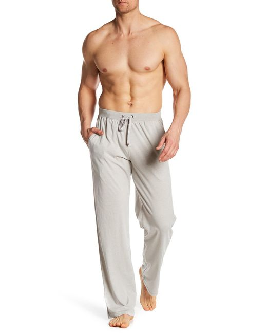 Daniel Buchler - Gray Drawstring Knit Pants for Men - Lyst