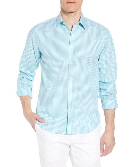 Jeremy Argyle Nyc Blue Comfort Fit Check Sport Shirt for men
