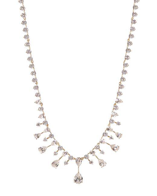 Nadri - Metallic Audrey Cz Teardrop Fringe Necklace - Lyst