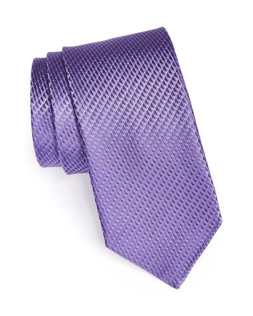 John W. Nordstrom   Purple Woven Silk Tie for Men   Lyst