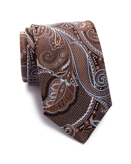 John W. Nordstrom   Brown Paisley Silk Tie for Men   Lyst