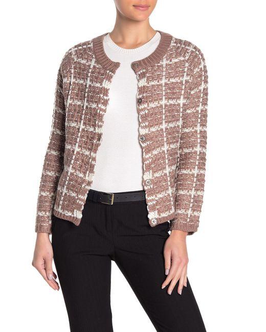 Cliche Multicolor Tweed Sweater Cardigan