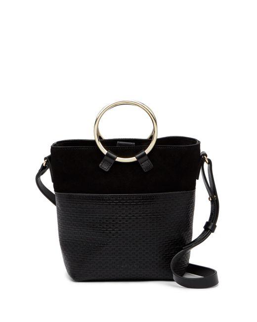 Halston Heritage - Black Small Embossed Leather Crossbody Bucket Bag - Lyst