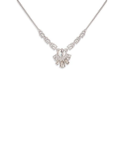 Givenchy - Metallic Crystal Cluster Pendant Necklace - Lyst
