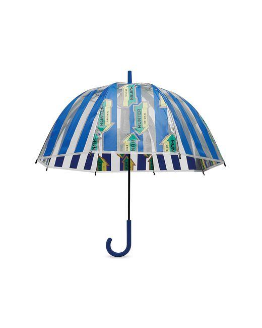 Hunter Blue Dulse Wave Print Bubble Umbrella