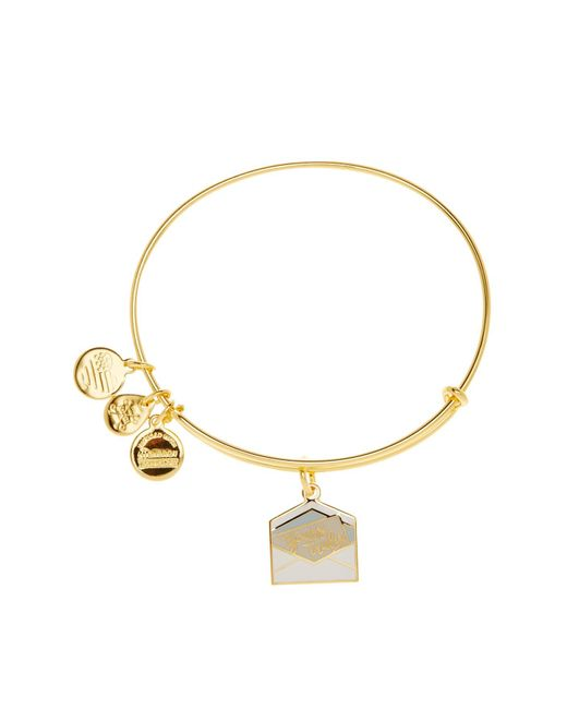 ALEX AND ANI - Metallic Color Infusion 'yours Truly' Charm Extendable Wire Bangle - Lyst