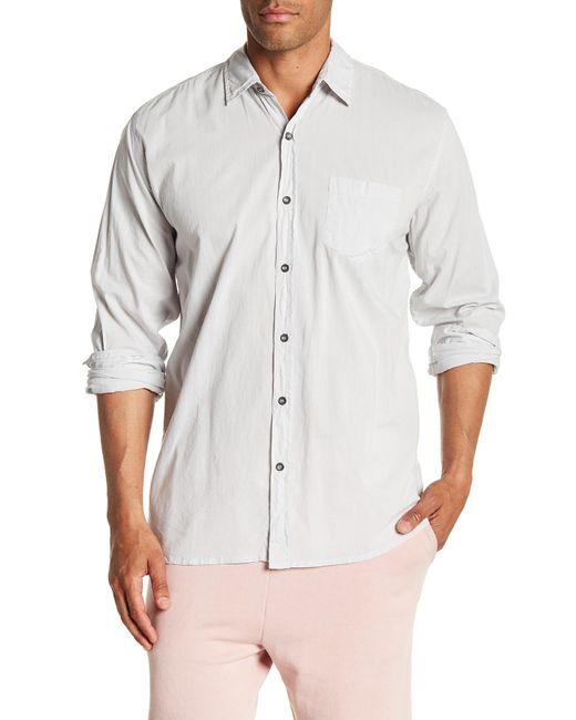 Velvet By Graham & Spencer - White Front Button Long Sleeve Classic Fit Shirt for Men - Lyst