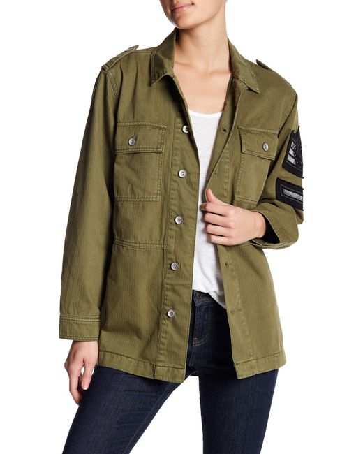 Band Of Gypsies | Green Soutache Patch Military Jacket | Lyst