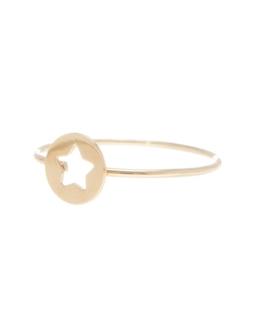 Bony Levy | Metallic 14k Yellow Gold Star Cutout Stackable Ring | Lyst