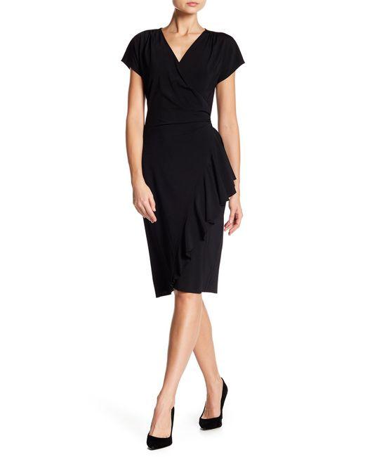 Lyst Lafayette 148 New York Side Ruffle Dress In Black