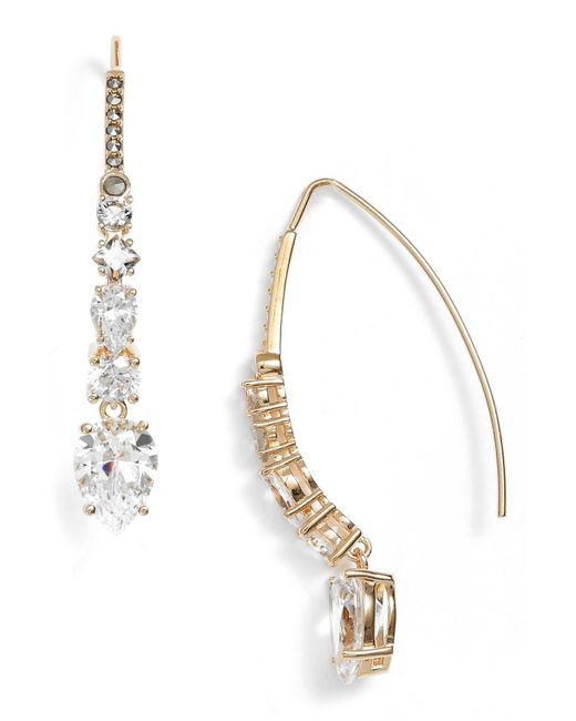 Judith Jack - Metallic Cz & Marcasite Threader Drop Earrings - Lyst
