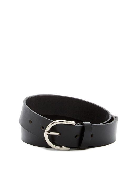 Linea Pelle Black Leather Classic Core Belt