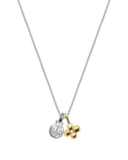 Alex Woo - Metallic Sterling Silver Mini Ladybug Charm Pendant Necklace - Lyst