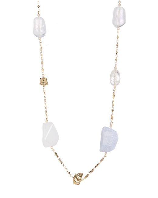Carolee | Metallic Long Mixed Stone Necklace | Lyst