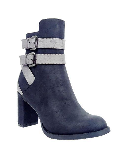 Rebels | Black Eve Contrast Strap Boots | Lyst
