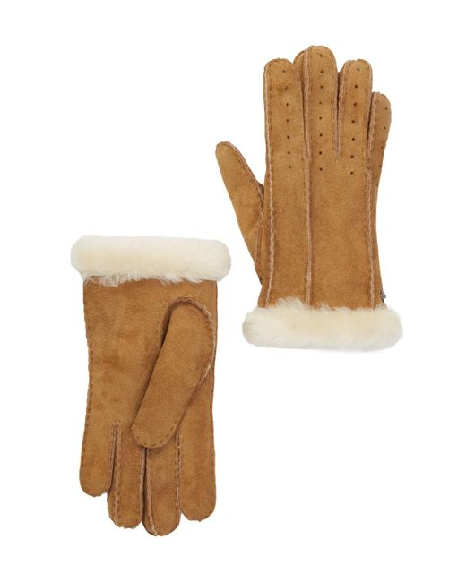 Ugg - Multicolor Classic Perforated Genuine Dyed Sheep Shearling Gloves - Lyst