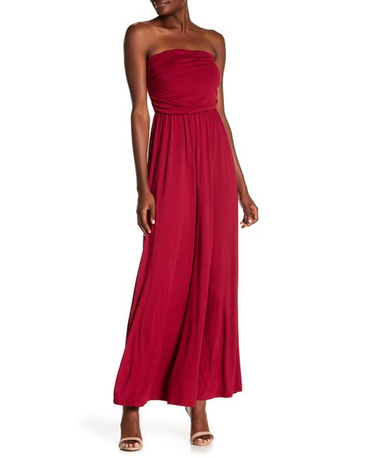 6428e4ffce8 West Kei - Red Strapless Maxi Dress - Lyst ...