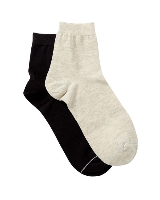 Yummie By Heather Thomson | Black Eseential Anklet Socks - Pack Of 2 | Lyst
