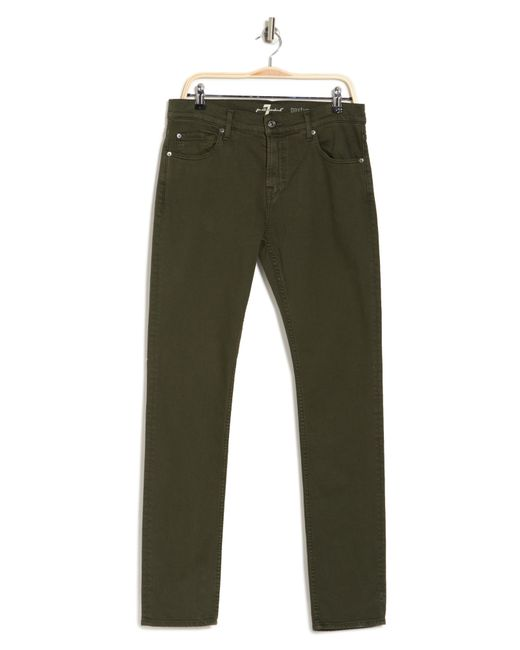 Seven7 Green Paxtyn Squiggle Skinny Jeans for men