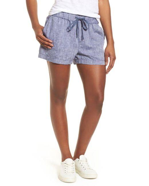 Caslon Blue Linen Shorts