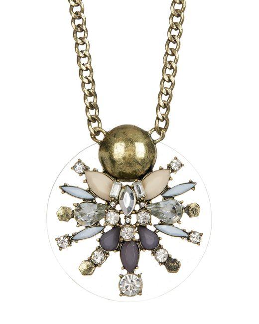 BaubleBar   Metallic Nova Crystal & Stone Pendant Necklace   Lyst