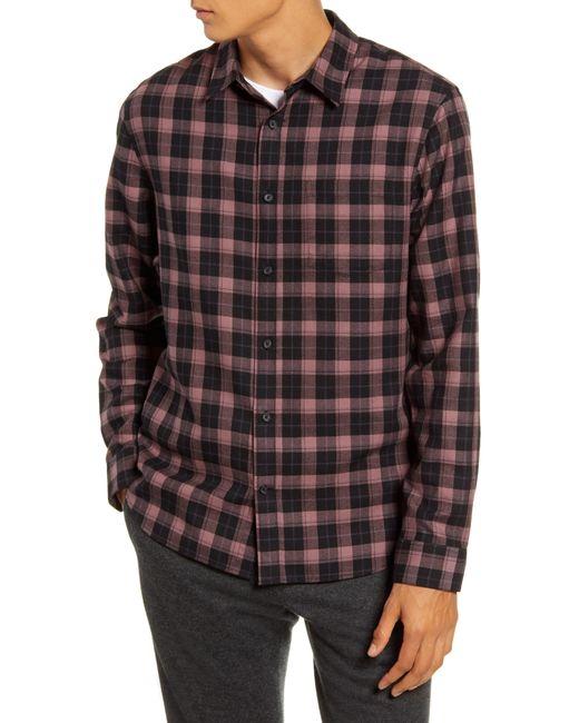 Vince Multicolor Slim Fit Plaid Flannel Button-up Shirt for men