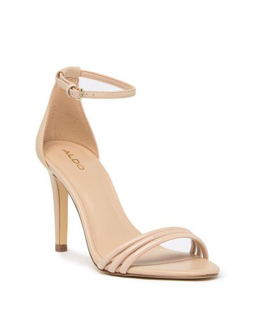 ALDO - Natural Fabbrico Heeled Ankle Strap Sandal - Lyst