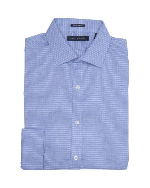 Tommy Hilfiger Blue Long Sleeve Slim Fit Dress Shirt for men