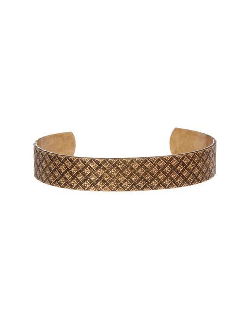 Link Up | Metallic Embossed Basketweave Textured Cuff Bracelet | Lyst