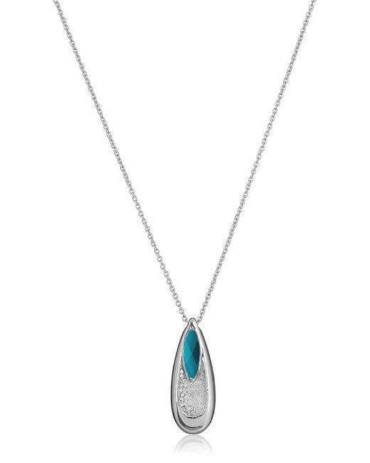 Melinda Maria - Metallic Victoria Pave Cz Teardrop Pendant Necklace - Lyst