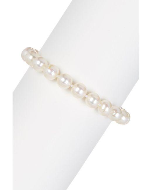 Splendid | 6.5-7mm White Cultured Freshwater Pearl & Fancy Heart Charm Bracelet | Lyst