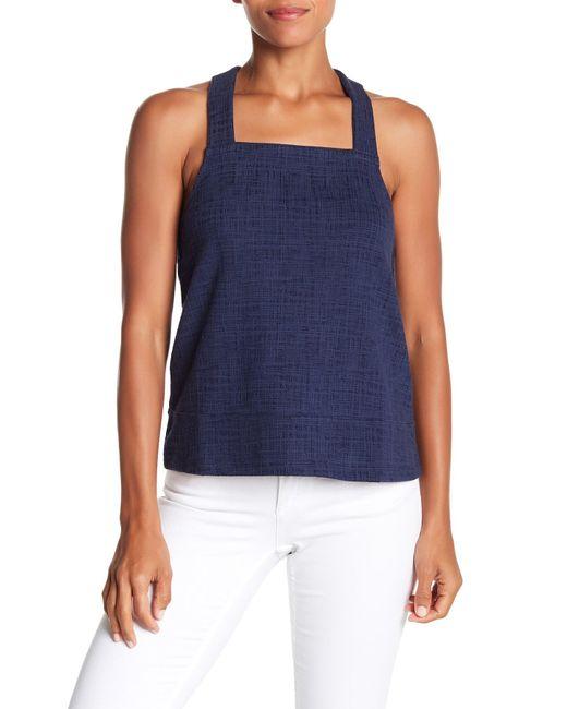8bb464a42c5d69 Madewell - Blue Textured Knit Apron Tank Top - Lyst ...
