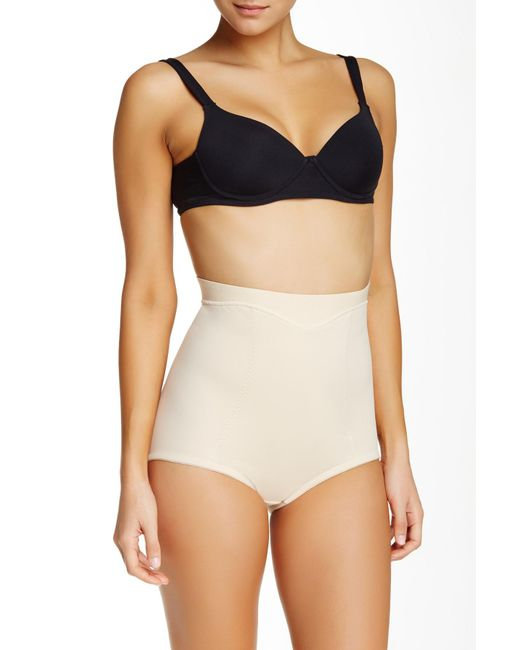 Joan Vass - Natural Mid Waist Control Brief (plus Size Available) - Lyst