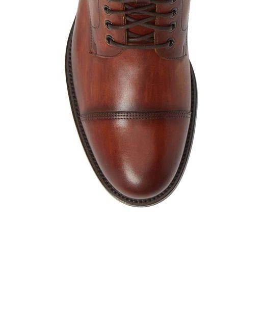 8b11bd0e938 Brown Men's Peyton Leather Cap Toe Boot