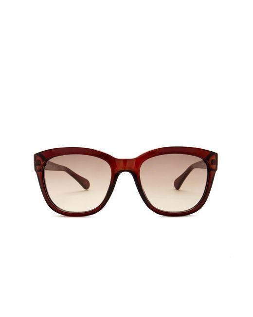 Diane von Furstenberg | Brown Women's Mariel Plastic Square Sunglasses | Lyst