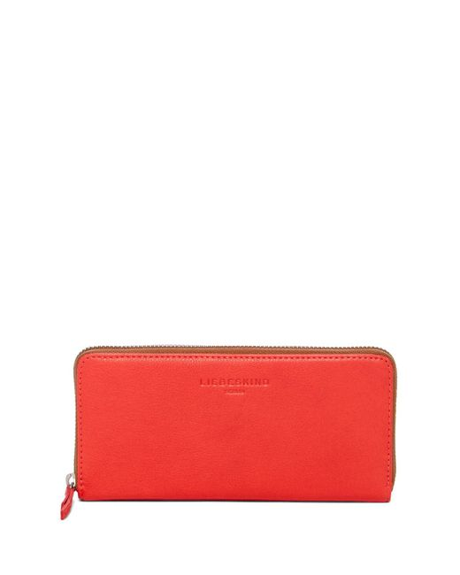 Liebeskind Berlin | Red Colorblock Pebbled Leather Long Wallet | Lyst