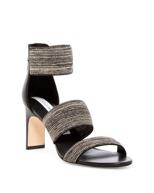 Matt Bernson | Black Zinnia Strappy Stiletto Sandal | Lyst