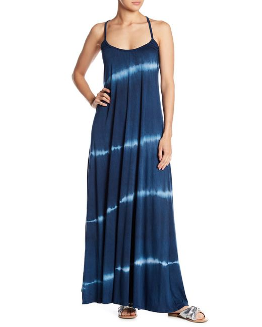Go Couture - Blue Billowy Slip Maxi Dress - Lyst