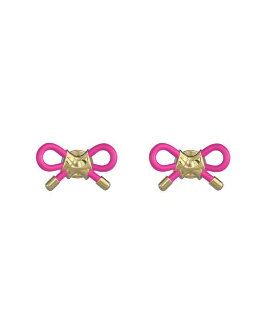 Ted Baker Pink Luna Dainty Bow Cord Earrings