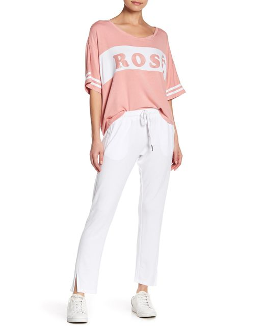 The Laundry Room - White Split Accent Sweatpants - Lyst