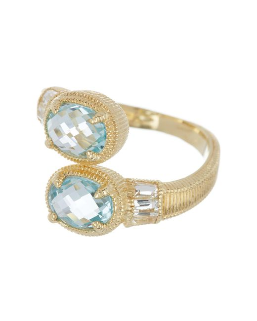 Judith Ripka - Multicolor 14k Gold Plated Sterling Silver Mardi Gras Bypass Stone Ring - Size 7 - Lyst