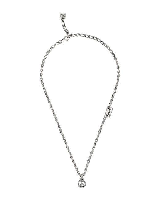Uno De 50 - Metallic Peace Sign Pendant Necklace - Lyst