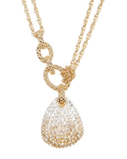 Swarovski - Metallic Crystal Pave Pendant Layered Necklace - Lyst