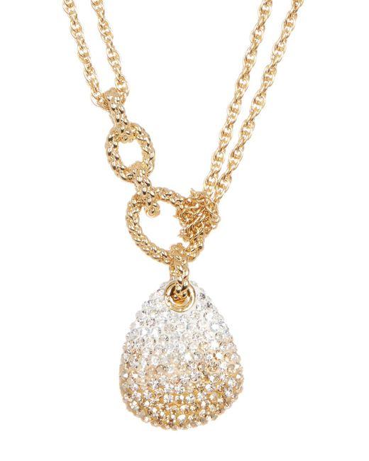 Swarovski | Metallic Crystal Pave Pendant Layered Necklace | Lyst