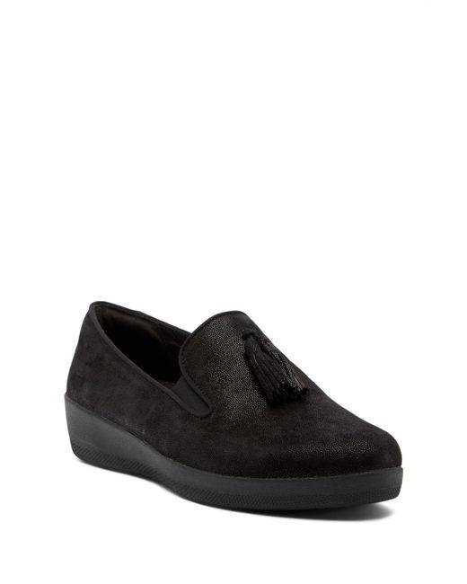 Fitflop - Black Superskate Tassel Sneaker - Lyst