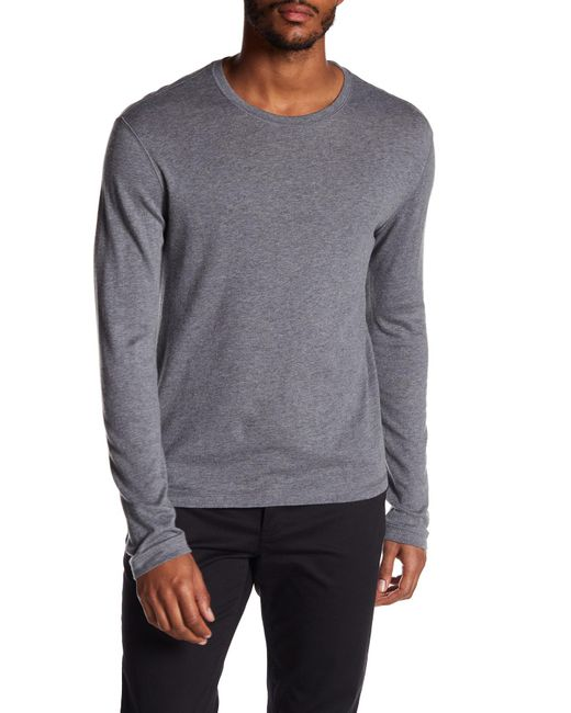 Vince - Gray Loose Knit Long Sleeve Sweater for Men - Lyst