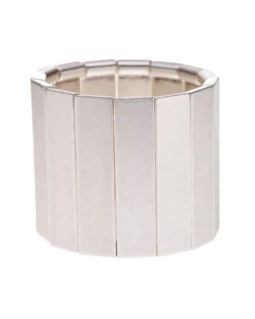 TMRW STUDIO - Multicolor Antique Silver Plated Pewter Stretch Bracelet - Lyst